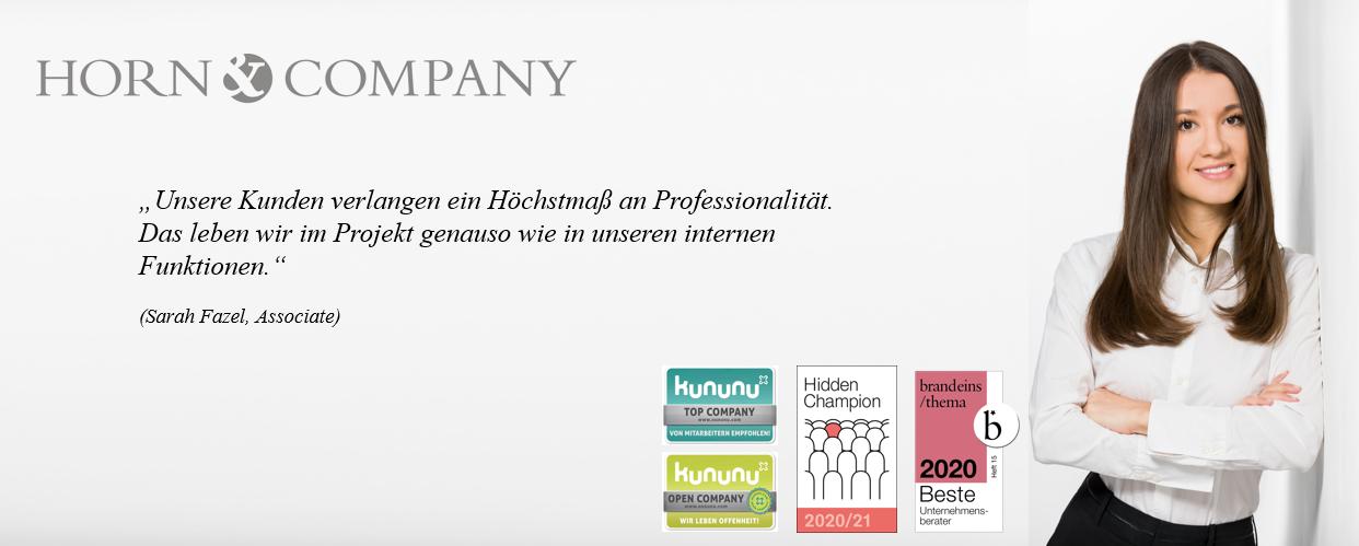 Werkstudent (m/w/d) Recruiting - Job Düsseldorf - Karrieremöglichkeiten bei Horn & Company - Application form