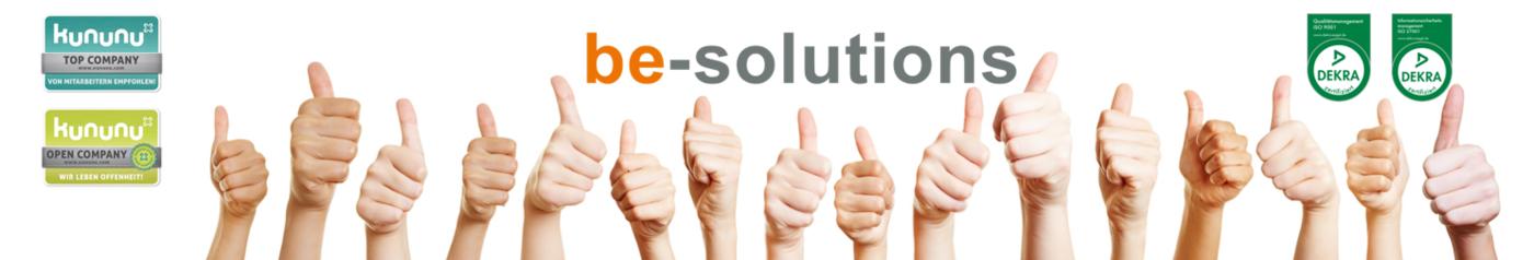 Network Engineer (m/w/d) - Job Grasbrunn (München), Home office - Karriere bei be-solutions - Post offer form