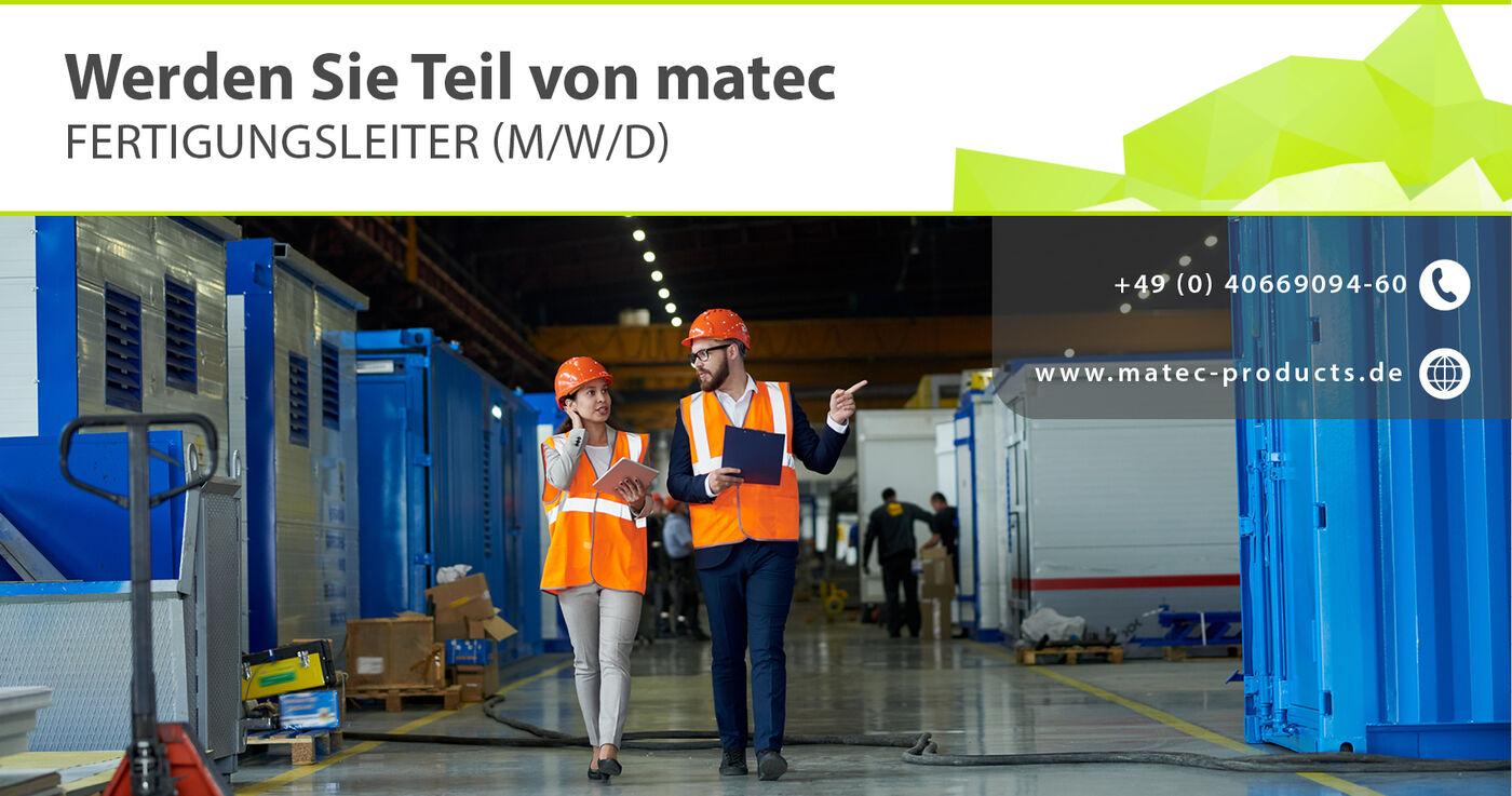 FERTIGUNGSLEITER (M/W/D) - Job Marienheide - activaTec
