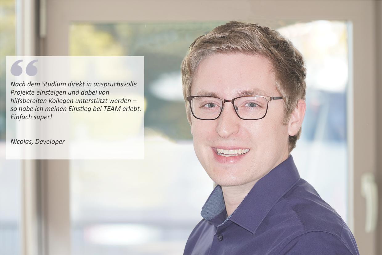 Softwareentwickler*in - Job Paderborn, Home office - Deine Karriere bei TEAM - Application form
